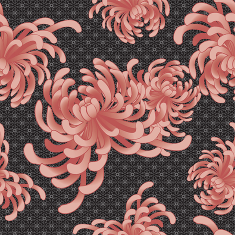 Night_Blooms fabric by wendy_lin on Spoonflower - custom fabric