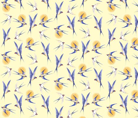 swallows  fabric by jan_harbon on Spoonflower - custom fabric