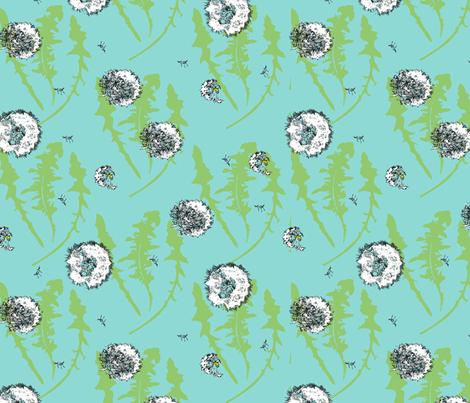 dandelion fabric by renelope on Spoonflower - custom fabric