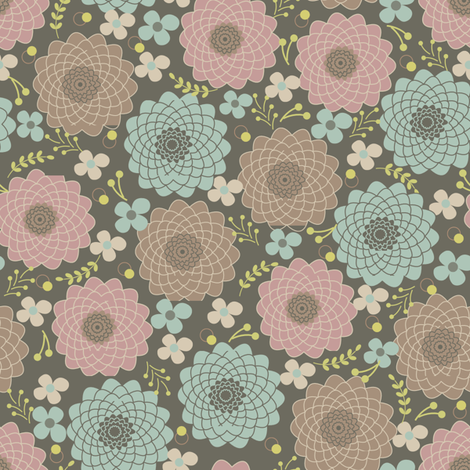 flowers from my Backyard fabric by cherished_dreams on Spoonflower - custom fabric