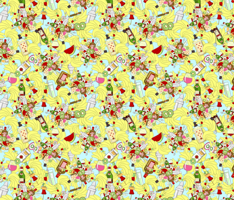 cocktail_colorette fabric by colorette2 on Spoonflower - custom fabric