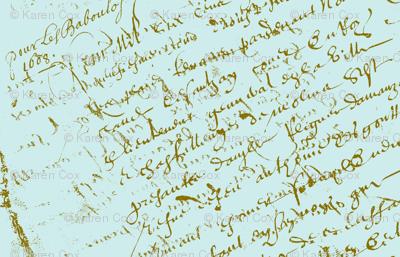 Paris Blue French Script