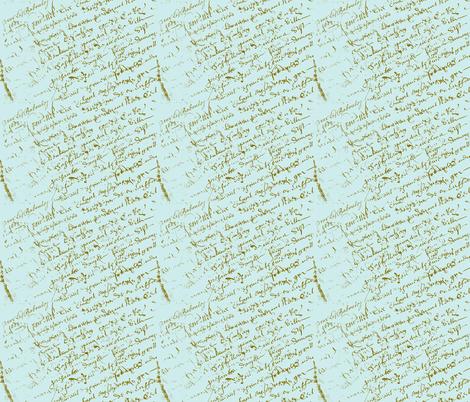 Paris Blue French Script fabric by karenharveycox on Spoonflower - custom fabric