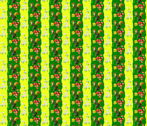 Country Collage Stripe fabric by robin_rice on Spoonflower - custom fabric