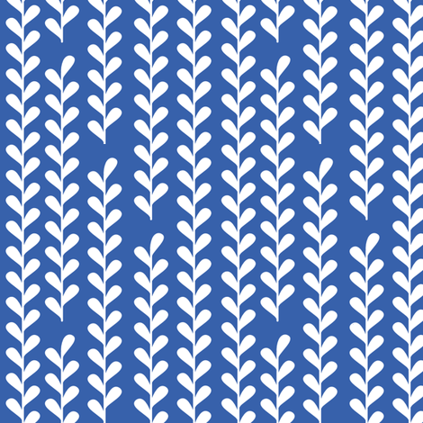 Climbing Vines in Royal Blue and White fabric by audreymann on Spoonflower - custom fabric