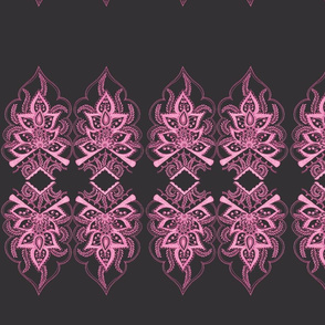 Mehndi Flower Border Pink