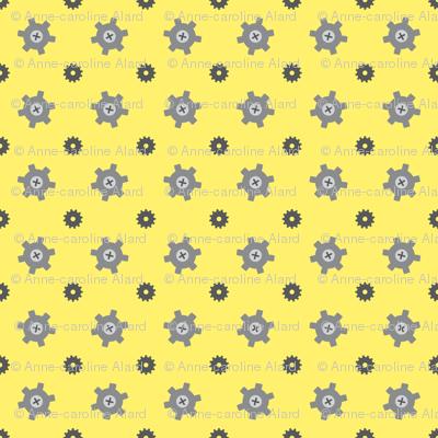 Tiny gear yellow