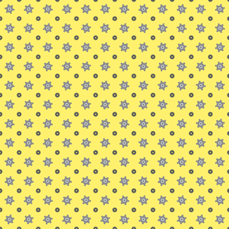 Tiny gear yellow fabric by petitspixels on Spoonflower - custom fabric