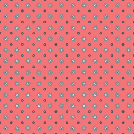 Tiny gear red fabric by petitspixels on Spoonflower - custom fabric