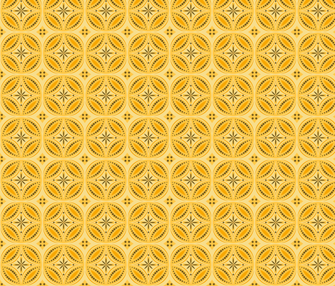 Moroccan Tiles (Yellow/orange) fabric by shannonmac on Spoonflower - custom fabric