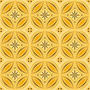 Moroccan Tiles (Yellow/orange)