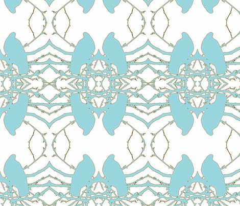 Birds__blue fabric by katiemadeit on Spoonflower - custom fabric