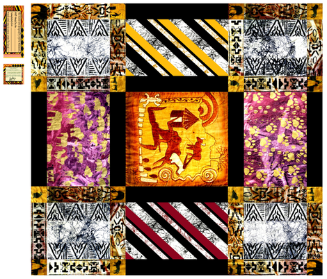 African_Rock_Painting_Quilt fabric by art_on_fabric on Spoonflower - custom fabric