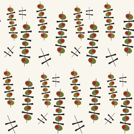 Olives_Swing fabric by kimnb on Spoonflower - custom fabric