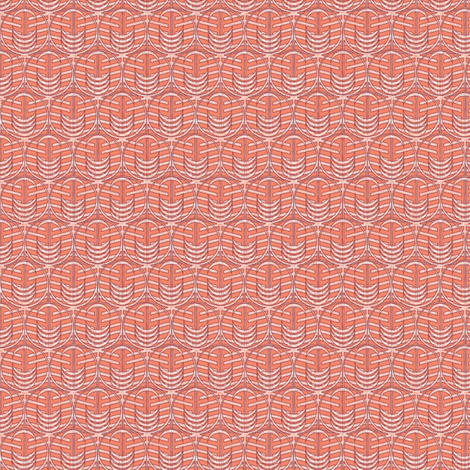 FOREST WINDOW CORAL micro20 fabric by glimmericks on Spoonflower - custom fabric