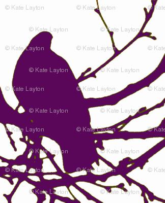 Birds, purple, neutral hints