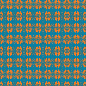 Birds, turquoise, orange