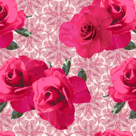 Rrrfour_roses_on_extra_large_flat_pink_1276991_rrturquoise_stamp_fixed_1245113_rinverted_color_changed_stamp-fixed_1241967_rdriftwood-templateo4_on_pink_lace_shop_preview