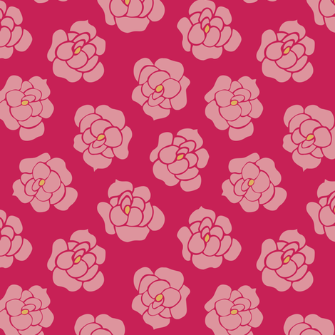 roses fabric by gracedesign on Spoonflower - custom fabric