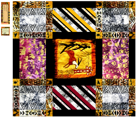 African_Rock_Painting_Quilt  2 fabric by art_on_fabric on Spoonflower - custom fabric