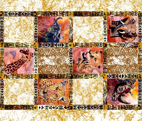Fat Quarter Big 6 for 42 inch fabric fabric by art_on_fabric on Spoonflower - custom fabric
