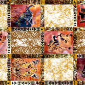 African Wild Animals Fat Quarter on 58 inch fabric.