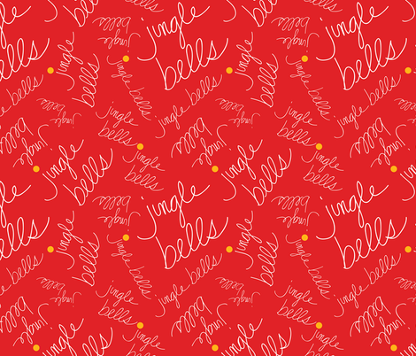 Jingle Bells Red fabric by donnamarie on Spoonflower - custom fabric