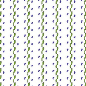 Pastel Ribbon Embroidery Illusion -- in royal and green