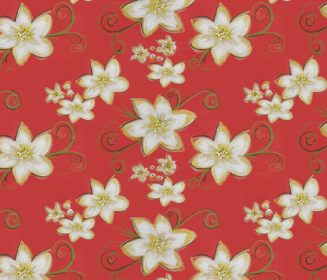 Flowerly fabric by catru on Spoonflower - custom fabric