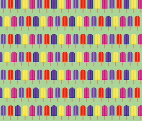 Popsicles - Green  fabric by owlandchickadee on Spoonflower - custom fabric