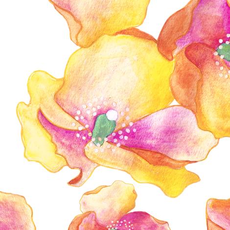 Big Amapolas - border print fabric by gemmacreativa on Spoonflower - custom fabric