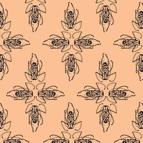 Patterned-Beetle--peach-FBC195