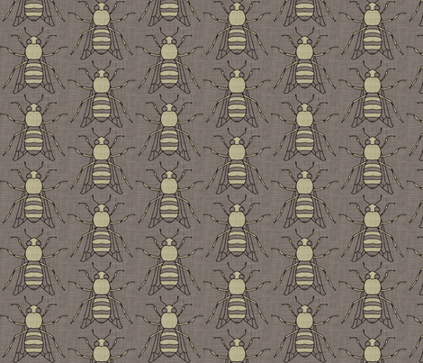 burlap_bee fabric by holli_zollinger on Spoonflower - custom fabric