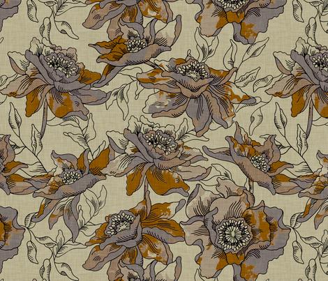 burlap_bohème fabric by holli_zollinger on Spoonflower - custom fabric