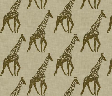 burlap_giraffe fabric by holli_zollinger on Spoonflower - custom fabric
