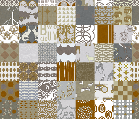 burlap_cheater fabric by holli_zollinger on Spoonflower - custom fabric