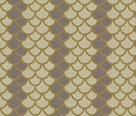 burlap_fishscale fabric by holli_zollinger on Spoonflower - custom fabric