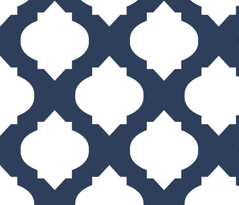 Medallions in Navy fabric by katphillipsdesigns on Spoonflower - custom fabric