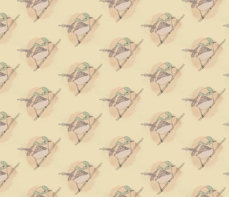 Little Wren fabric by rarofabrics on Spoonflower - custom fabric