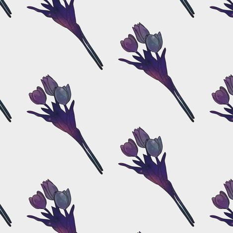 Galaxy Tulips fabric by rarofabrics on Spoonflower - custom fabric