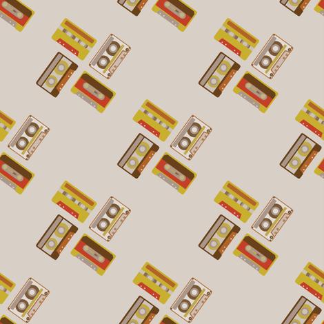 Retro Cassettes fabric by rarofabrics on Spoonflower - custom fabric