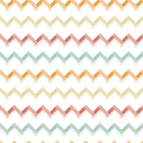 Cheveron Sorbet fabric by rarofabrics on Spoonflower - custom fabric