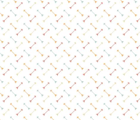 Arrows Sorbet fabric by rarofabrics on Spoonflower - custom fabric