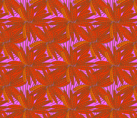 tropic feather fabric by glimmericks on Spoonflower - custom fabric