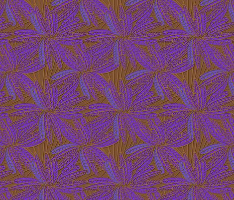 amethyst_feather fabric by glimmericks on Spoonflower - custom fabric