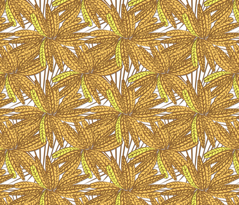 golden_feather fabric by glimmericks on Spoonflower - custom fabric
