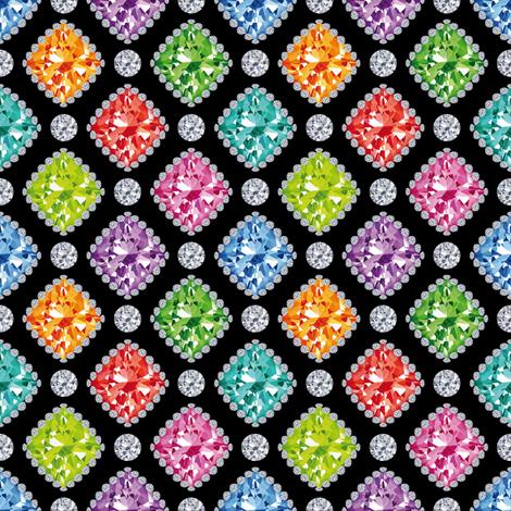 Diamonds fabric by cassiopee on Spoonflower - custom fabric