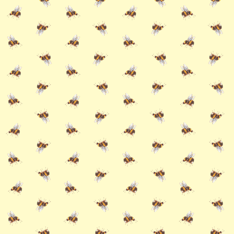 Garden bees (yellow) fabric by jan_harbon on Spoonflower - custom fabric