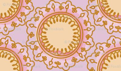 vintage mandala - parma violet