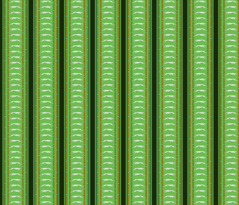 Running Greyhound Stripe grey green © 2012 by Jane Walker fabric by artbyjanewalker on Spoonflower - custom fabric